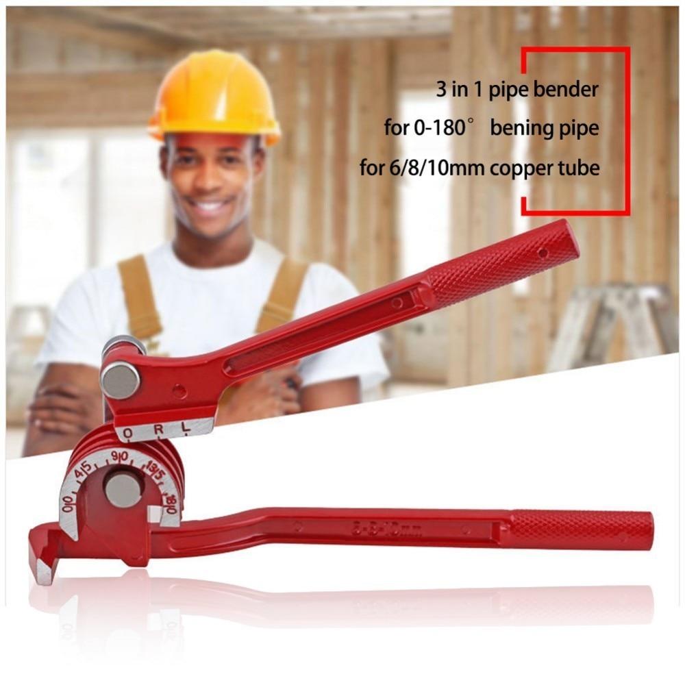 Купить с кэшбэком Brake Line Tubing 6mm/8mm/10mm Forming Bending Bender Tool Pliers 3 In 1 Heavy Duty Tube Aluminum Alloy Tubing Bender