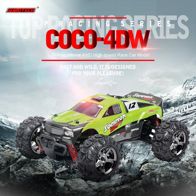 Vehículo del rc hobby toys alta velocidad 4wd coche rc 1/24 2.4 ghz off road racer rtr rc moster camión modelo de coche todoterreno subotech BG1510C