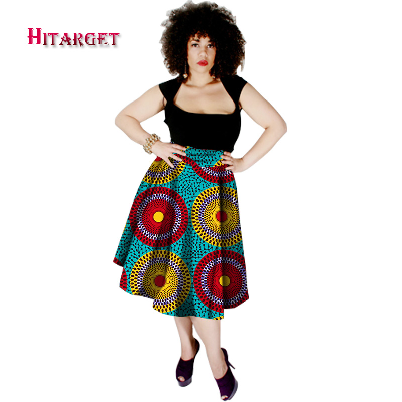 US $32.51 18% OFF|Summer Dashiki African dresses High Waist Grown Skirt  Dashiki bazin Plus Size African printed Fashionable Skirt Hitarget WY292-in  ...