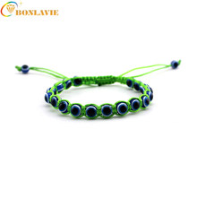 New Hot Hand made string evil eye bracelets blue evil eye good Luck bracelet Unisex Men Women fashion jewelry(China)