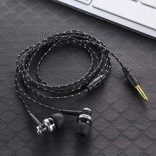 Neue 3,5 MM 5 Farben Stereo In-Ohr Kopfhörer Hohe Qualität Geflochtene seil Shell Design Ohrhörer Doppel Ohrhörer Metall headset mit Mic