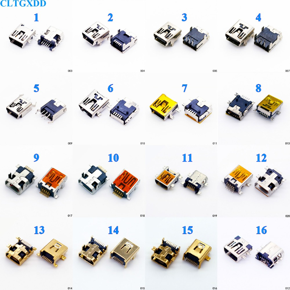 16 models to choose 10pcs Female Mini USB Type B 5pin 8pin 10 Pin 11 pin SMT SMD Mount Jack Connector repair parts 10pcs mini hdmi 1 4 type c female socket receptacle board mount smt type with pcb for hdtv diy cable