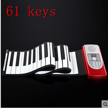 High Quality Midi Roll Up Portable Electronic Flexible Fold Keyboard Piano Soft 61 Keys Music Free Shipping