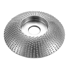 Wood Angle Grinding Wheel Abrasive Disc Sanding Carving Rotary Tool For Angle Grinder Carbide Coating Bore Shaping 5/8inch Bore