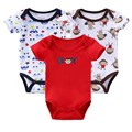 Baby Bodysuit Clothes Bebe 100% Cotton Clothing Body Boy Bodysuits 3Pcs/Lot Short Sleeve Clothes Body Baby Bebes