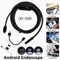 8mm 1 M 2 M 5 M Usb Tubo de Inspeção Cobra Endoscópio Android IP67 Endoskop OTG Câmera Endoscópio Hd 6 LED à prova d' água para o Veículo PCB