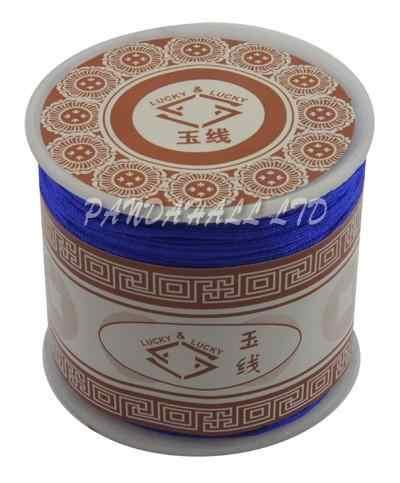 Nylon Thread Kabel, Bahan DIY untuk Membuat Perhiasan, hitam, 1mm; sekitar 35 m/roll