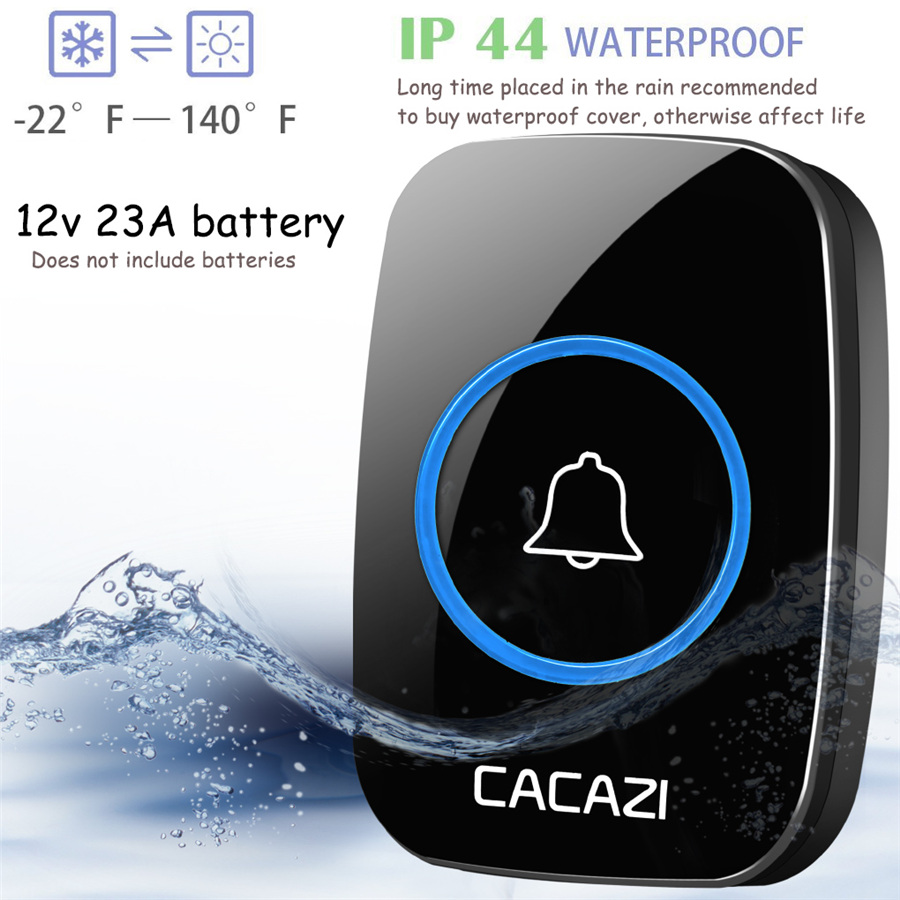 waterproof cover wireless doorbell ring 300m remote eu au uk us plug home. Black Bedroom Furniture Sets. Home Design Ideas