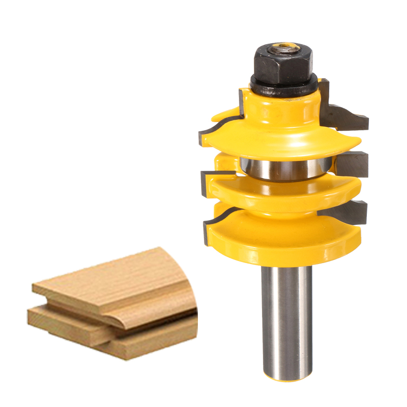 High Quality 1Pcs Stacked Rail Router Bit - 1/2 Shank For wooden door frames Woodworking tools Durable 2pcs high quality 1 2 inch shank rail
