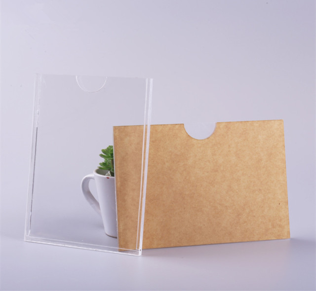 double layers a7 a6 a5 a4 clear acrylic information holder plexiglass sign holder box clear poster sign hodler