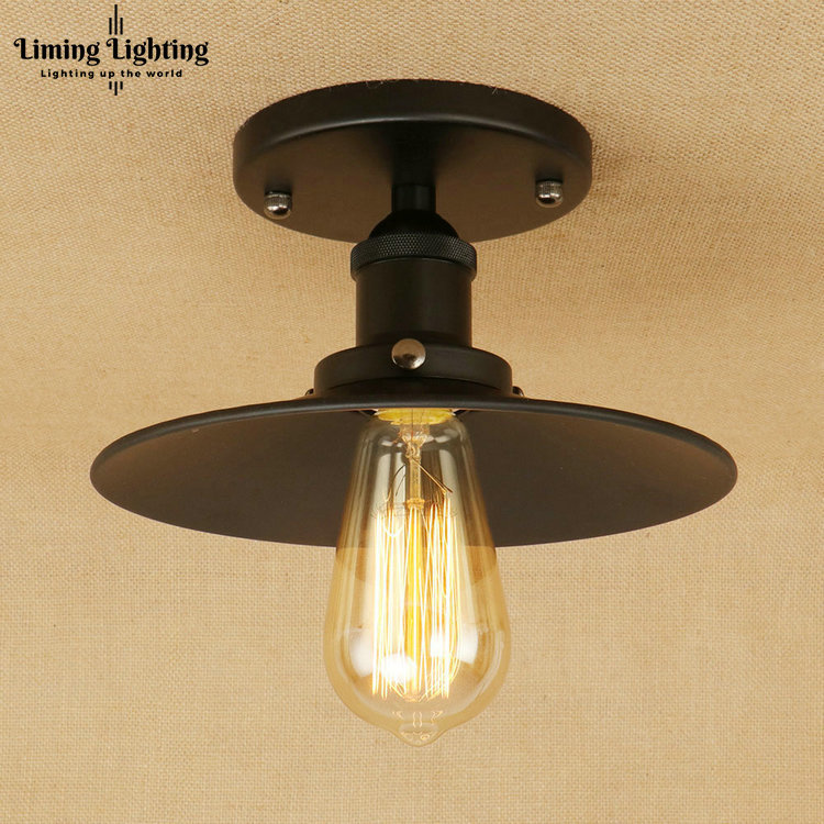 Retro Edison Loft Style Iron Vintage Ceiling Light Fixtures Industrial Ceiling Lamps Antique Indoor Lighting Lustres De Sala retro retro loft style edison industrial ceiling lamp antique iron glass vintage ceiling light fixtures home lighting lampara