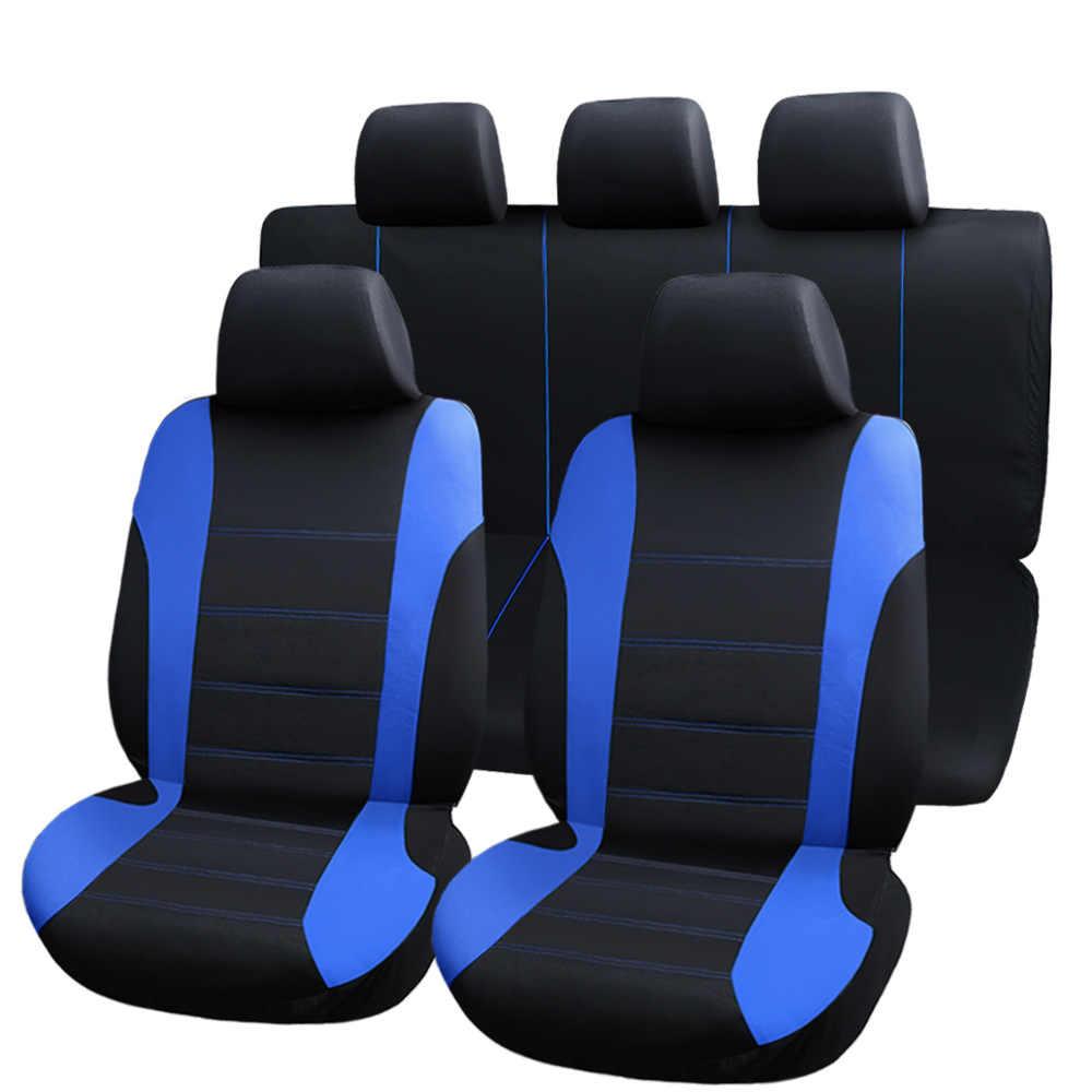 9 Uds. Fundas universales para asientos de coche fundas de protección para automóviles fundas de asiento de automóvil fo kelina grantar lada priora renault logan