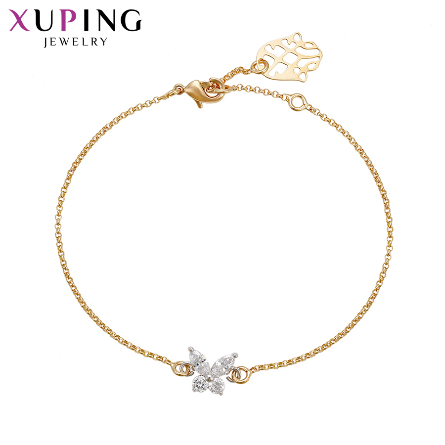 Xuping Fashion Bowknot Design Bracelets Charm Style Bracelets for Women Girls Imitation Jewelry Gift for Party S71,3-71663