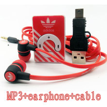 2016 new Hot Sale Mini Clip Sports MP3 Music Players Support TF Card With Earphone and  Mini USB