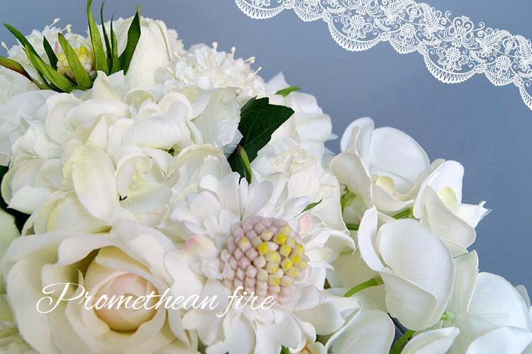 Bridesmaid flower wedding accessories bridal bouquets artificial bruidsboeket fleurs bouquet mariage 4