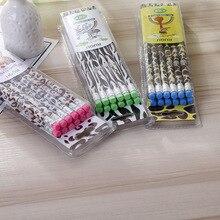 72個かわいい木製鉛筆ロットファッションノベルティゼブラ柄鉛筆学校事務用品書き込みhb標準鉛筆セット文房具