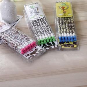 Image 1 - 72 stücke Kawaii Holz Bleistift Lot Neuheit Zebra Muster Bleistift für Schule Büro Liefert Schreiben HB Standard Bleistift Set Schreibwaren