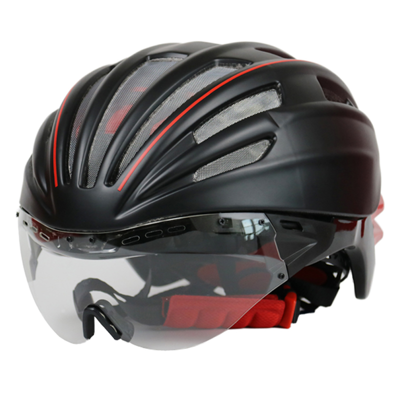 Cycling Helmet Double Layers In-mold Mountain Road MTB DH Bicycle Helmet Ultralight Bike Helmet Goggles Glasses Casco Ciclismo brand cycling helmet road mountain in mold bicycle helmet ultralight bike helmets with cycling bag casco ciclismo size l 55 63cm