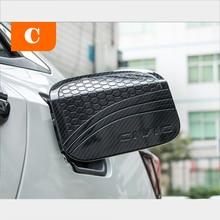 Car Styling Carbon Fiber Lines Scratch Resistant Car Fuel Tank Cap Stickers For 10th HONDA CIVIC