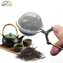 Tea Infuser Handle Ball Kitchen Gadget Stainless Steel Coffee Herb Spice Filter Diffuser Sphere Mesh Strainer
