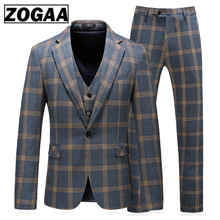 Fashion Plaid Designs Lapel Men Suit Tailor Made Groom Tuxedos Wedding 3 Piece Suits Best Man Blazer (Jacket+Pants+Vest) Custom 2018 retro gentleman style custom made boy s suits tailor suit blazer suits for boy 3 piece jacket pants vest the suits