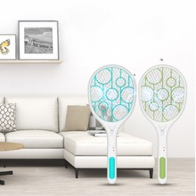 Blue/Green USB Rechargeable Electric Mosquito Flying Swatter Bug  Racket with LED Illumination