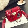 Estilo nacional da China mini bolsa feminina A borboleta e flor bordado saco saco do mensageiro Moda Rebite cor das unhas do vintage