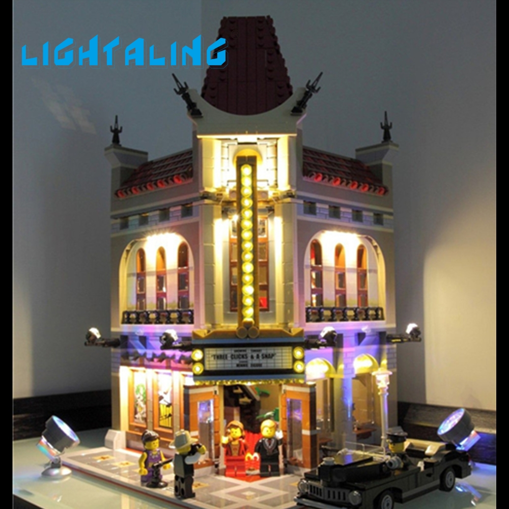Lightaling LED Light Kit Compatible with Famous Brand 10232 Building Blocks Bricks Creator Palace Cinema Toys 2016 new lepin 15006 2354pcs creator palace cinema model building blocks set bricks toys compatible 10232 brickgift