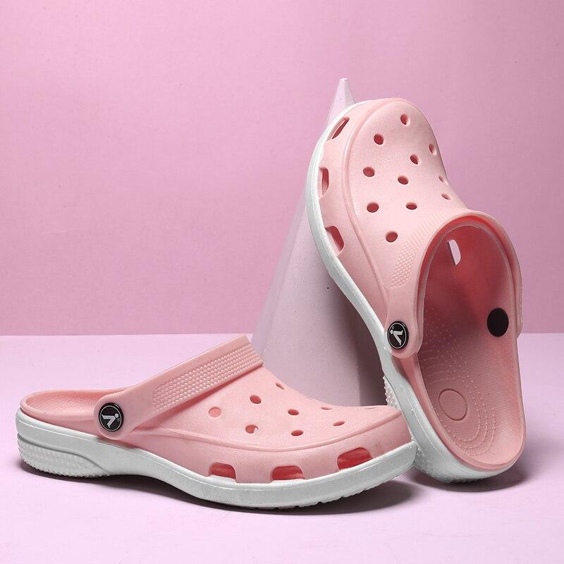 Verano Plano Clásico Cómodo Zapatillas Rosado Mujer Zuecos Zapatos 2018 Niñas lavanda Adboov Nuevo Mujeres Playa Sandalias rose Mulas q85fIXHw