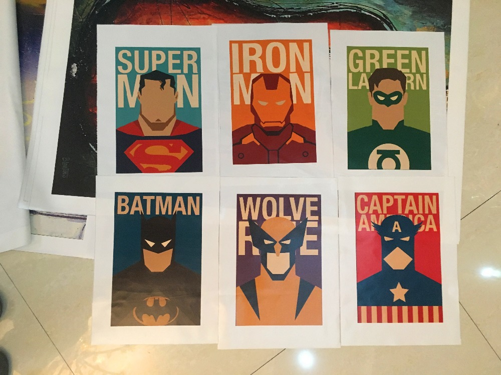 Aliexpress.com : Buy 6 Piece Superhero Canvas Painting Modern Home Wall  Decor Canvas Art HD Print Wall Pictures For Child Bedroom Unframed From  Reliable Art ... Part 56