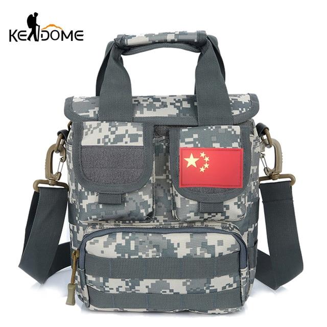 51581839f808 Outdoor Molle Handbag Trekking Men Women Tactical Shoulder Bag Camouflage  Military Multifunction Traveling Commute Bags XA607WD