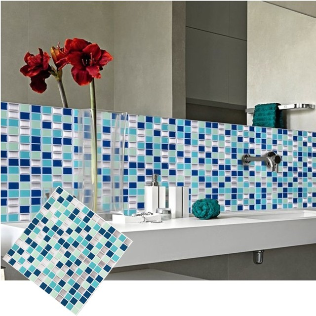 Auto adesivo cozinha banheiro backsplash 3d mosaico de for Mosaico adesivo 3d