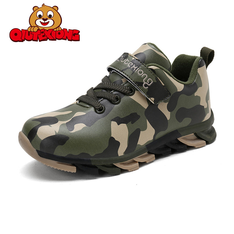 Hot Sale Camouflage Children Shoes High Quality Waterproof Casual Boys Shoes Outdoor Winter Keep Warm Kids Sneakers 1Size 26-38
