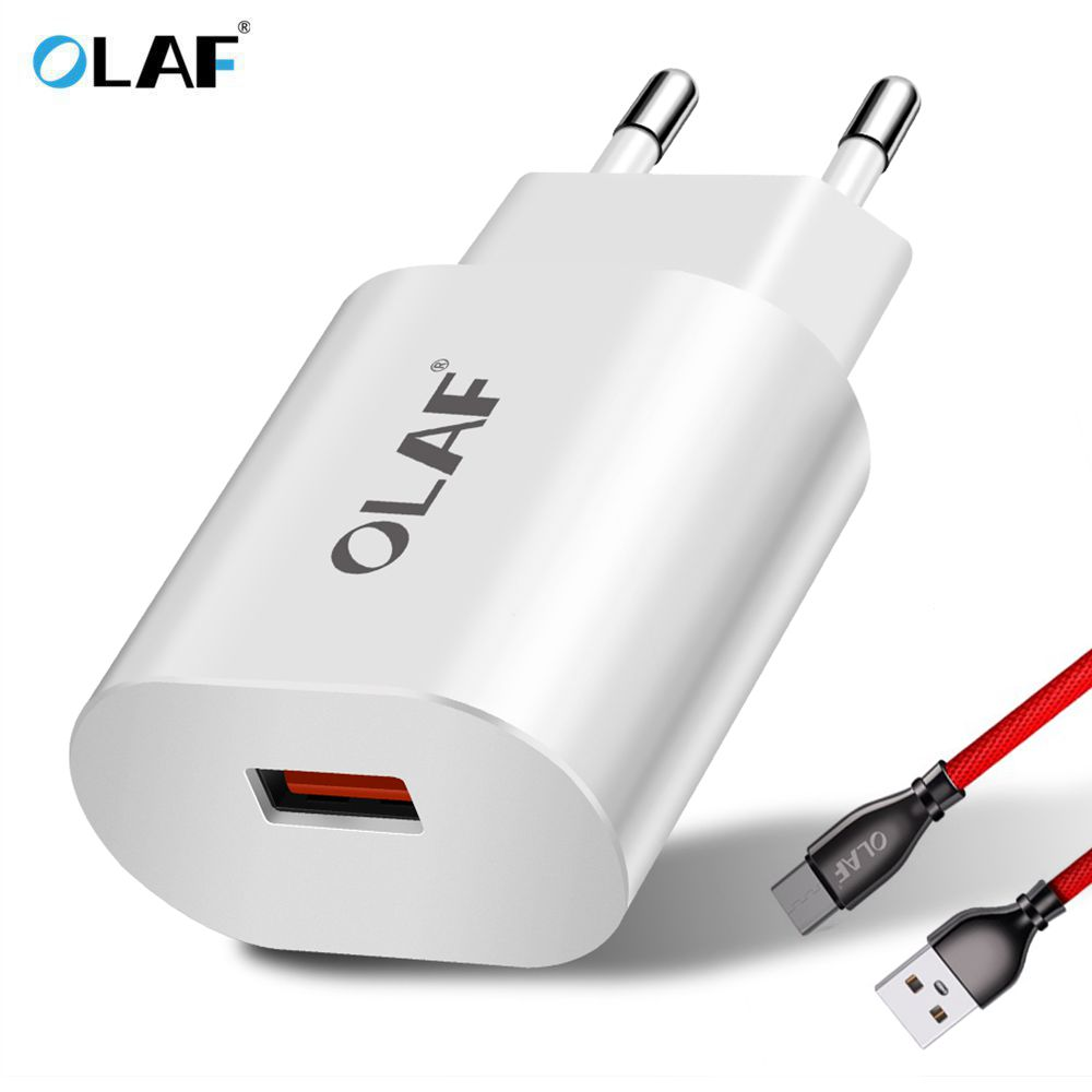 OLAF USB Charger Quick Charge 3.0 Fast Charger Wall Chargers Quick Charging Cable for iphone Type c Micro USB Mobile Phone Cable