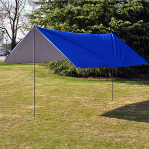 Image 2 - 3Mx3M Waterproof Sun Shelter Tent Tarp Anti UV Beach Tent Shade Outdoor Camping Hammock Rain Fly Camping Sunshade Awning Canopy