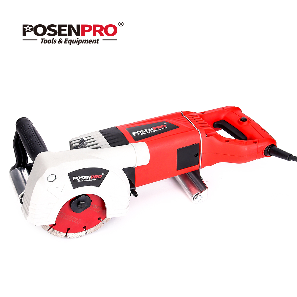POSENPRO 2400W Electric Wall Chaser Multifunction Wall Groove Cutting Machine for Brick&Granite Marble Power Tools
