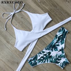 RXRXCOCO Hot Swimwear Bandage Bikini 2018 Sexy Beach Swimwear Women Swimsuit Bathing Suit Brazilian Bikini Set Maillot De Bain
