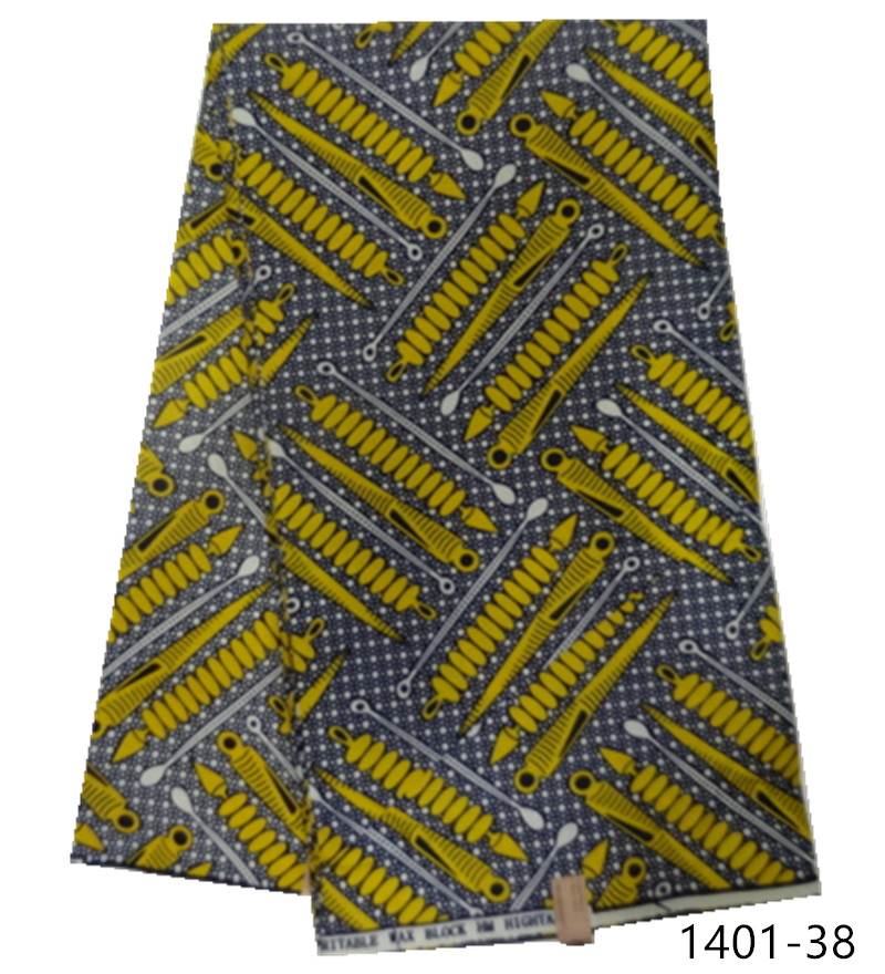 2019 New 100 Polyester Wax Prints Fabric Africa Ankara Wax High Quality 6 yards Wax Print for Party Dress 1401 36 in Fabric from Home Garden