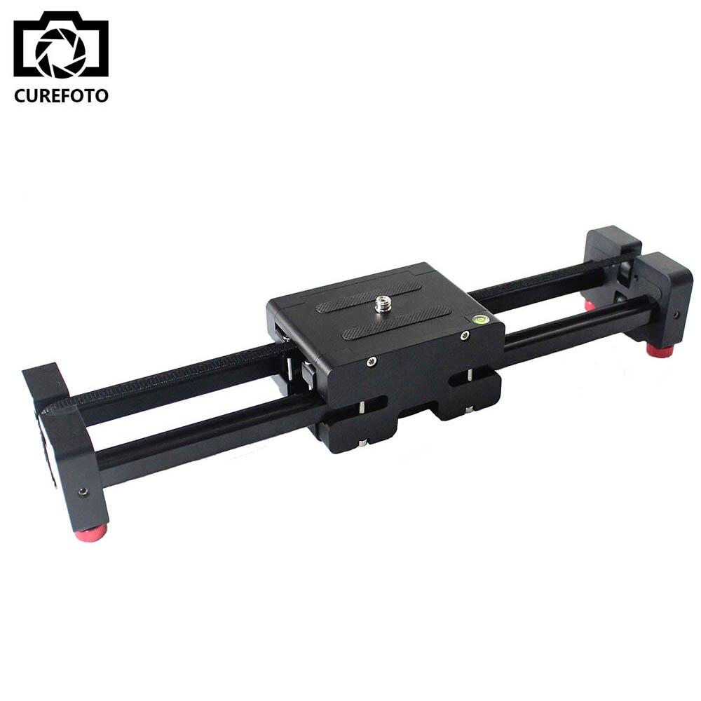 Nuovo Portatile di Viaggio Regolabile DSLR Video Camera Slider Traccia 50mm Distanza Doppia per REFLEX DV Videocamera Portatile Della Macchina Fotografica Dolly Stabilizzatore