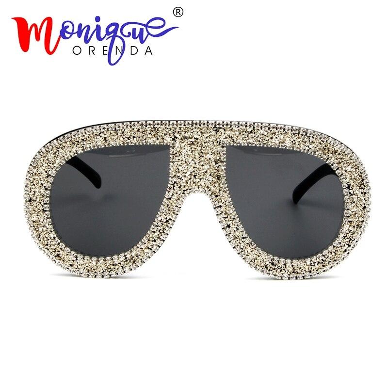 2018 gafas de sol mujeres oro plata grava marca gafas de sol grandes ...