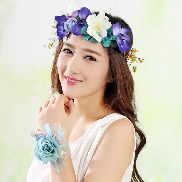 Spring Flower Wreath Head Crown