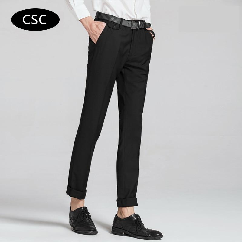 Erkek Gelinlik Suit Pantolon erkekler için 2018 moda Slim fit Parti - Erkek Giyim - Fotoğraf 1