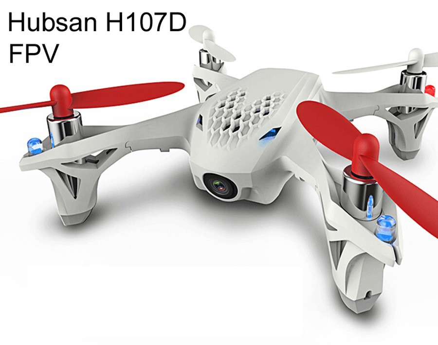 Original Hubsan X4 H107D Mini RC FPV Quadcopter 5.8G 4CH 6 Axis RTF with 0.30MP HD Camera Real-time Aerial Photography Video