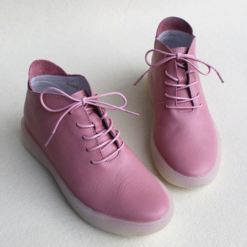 Genuino Transparente 100 Plana 2 Cuero De Pink Mujer white Hasta Botas Zapatos Suela Encaje 2016 Mujeres pw4qtzn
