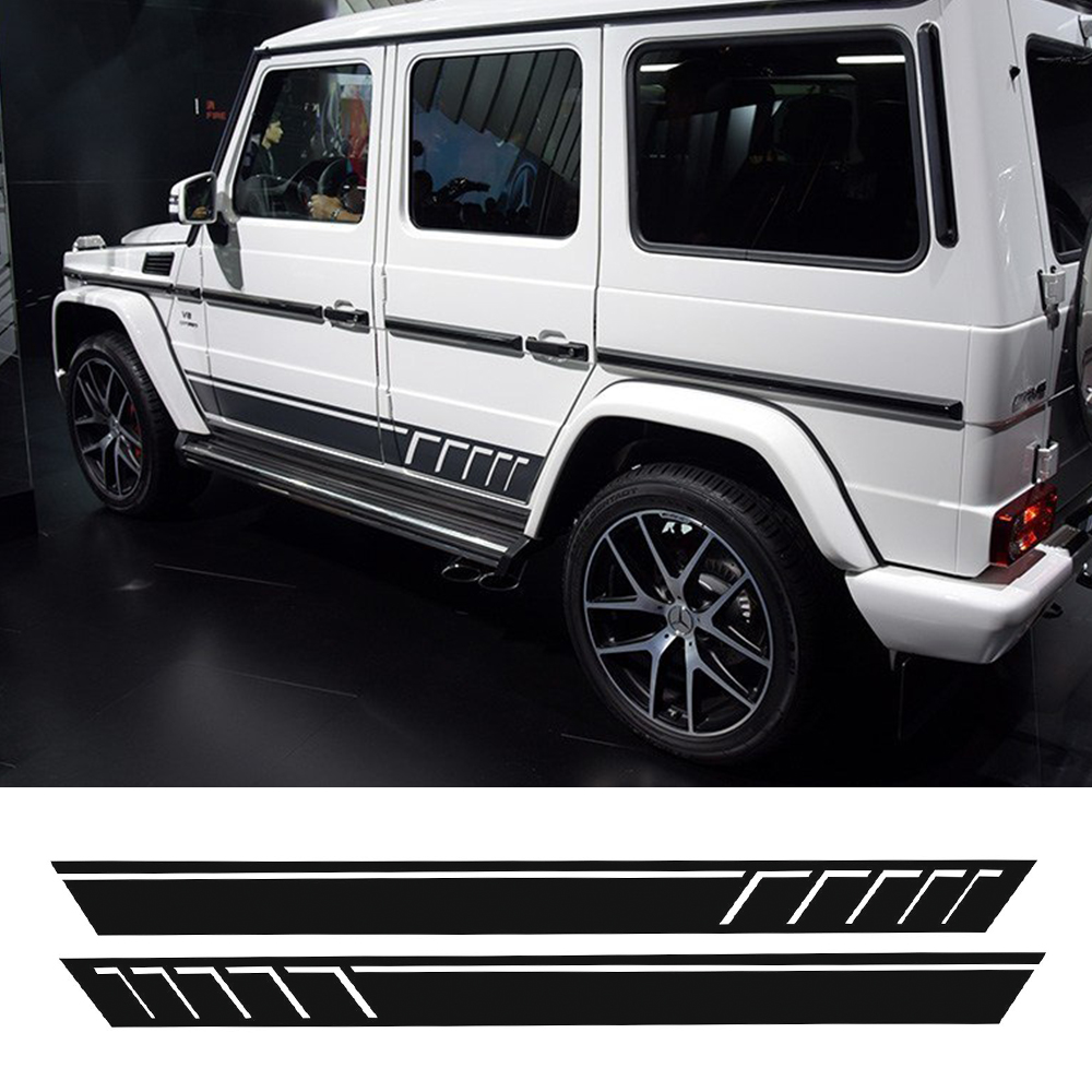 Car-Styling for Mercedes Benz G63 AMG Performance Edition side sports stripe W463G65 Skirt Vinyl Decals Sticker-Black/5D Carbon auto fuel filter 163 477 0201 163 477 0701 for mercedes benz
