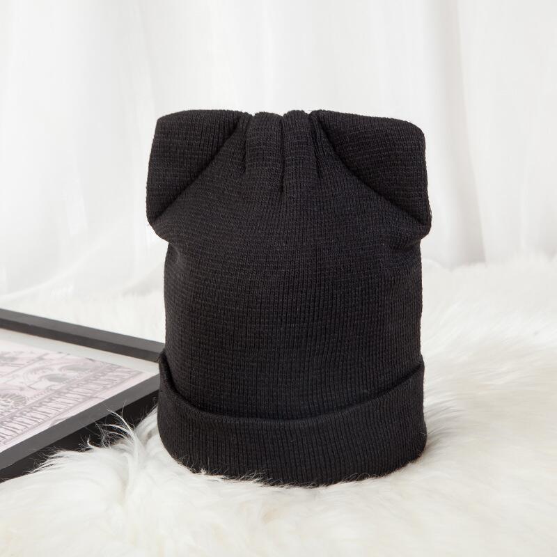 BINGYUANHAOXUANWomen s Hat Cat Ear Crochet Braided Knit Caps Warm  Snowboarding Winter 735314a4a61e