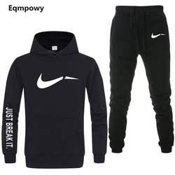 Мужской спортивный костюм, 2 комплекта, новая модная куртка, спортивная одежда, мужские спортивные штаны, толстовки, весенние и осенние