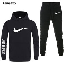 Men's Tracksuit 2 sets of new fashion jacket sportswear men's sweatpants hoodies spring and autumn men's brand hoodies pants(China)