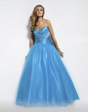 New Charming A-line Liebsten Bodenlangen Tüll Abendkleid Lange Sleeveless Abend-formales Kleid Pailletten Vestido De Festa F928