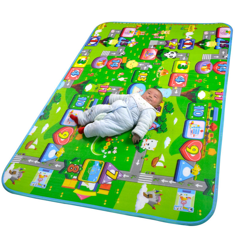 Baby Crawling Play Games Mat Double-Side Climb Pad Children Puzzle Education Toys Cushion Playmat Kids Carpet Baby Game Rug